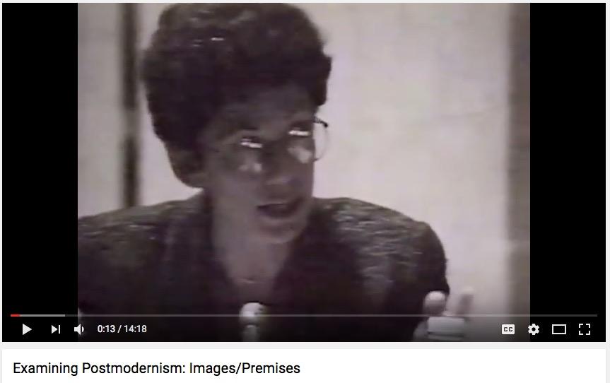 "Lynn Stern, ""Examining Postmodernism"" panel, NYU, 1991"