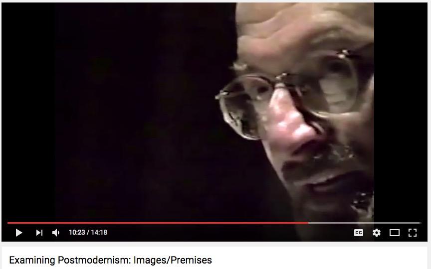 """Max Kozloff, """"Examining Postmodernism"""" panel, NYU, 1991"""
