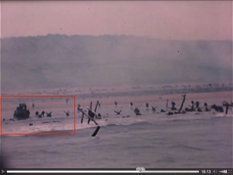 """At the Beaches of Normandy"" (1944), U.S. Coast Guard film, screenshot (c)"