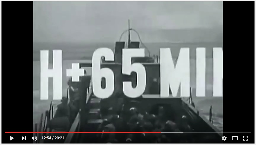 """Normandy Invasion"" (1944), U.S. Coast Guard film, screenshot"
