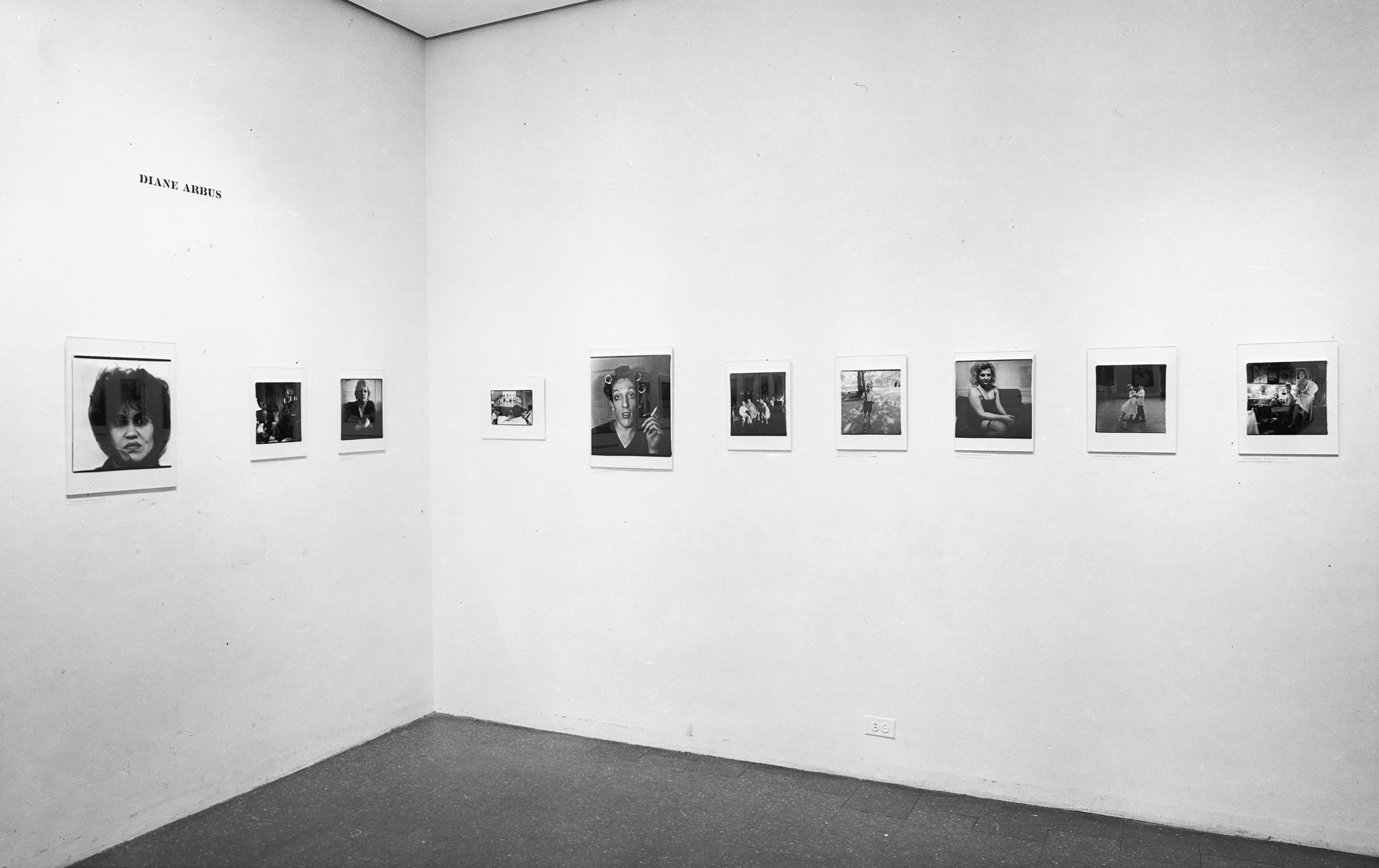 "Diane Arbus section, ""New Documents"" (1967). Installation shot courtesy Museum of Modern Art."