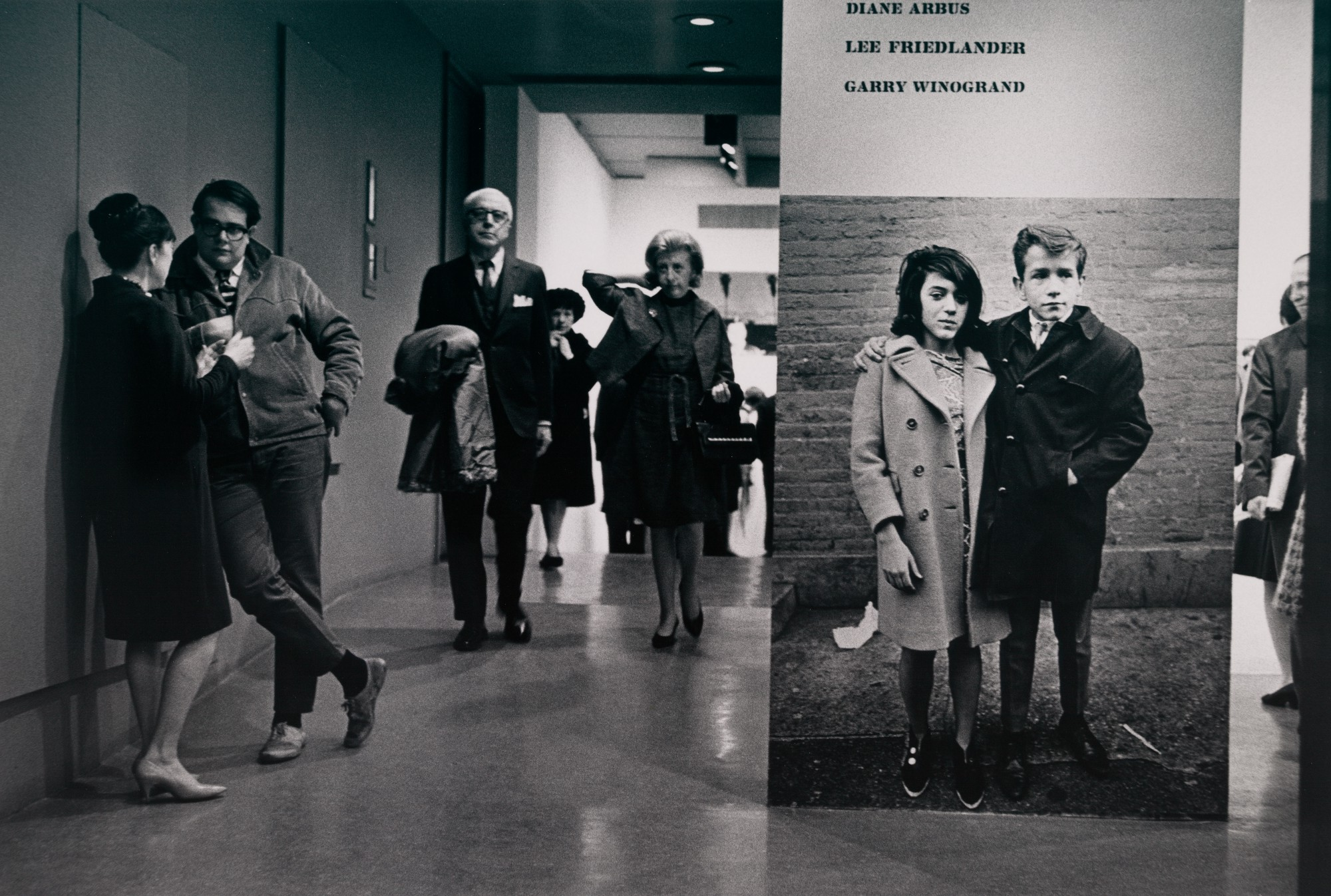 "Opening night, ""New Documents,"" Museum of Modern Art, NY, 2-27-67. Photo courtesy MoMA."
