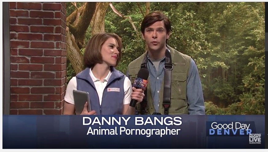 "Saturday Night Live, ""Zoo Pornographer"" sketch, 3-12-17, screenshot"