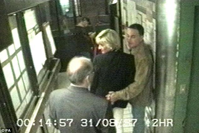 Princess Diana and Dod al-Fayed, Ritz Hotel, Paris, surveillance cam, 8-31-97