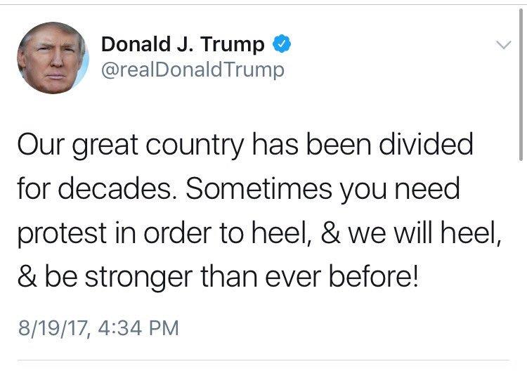Donald Trump, tweet, 8-19-17