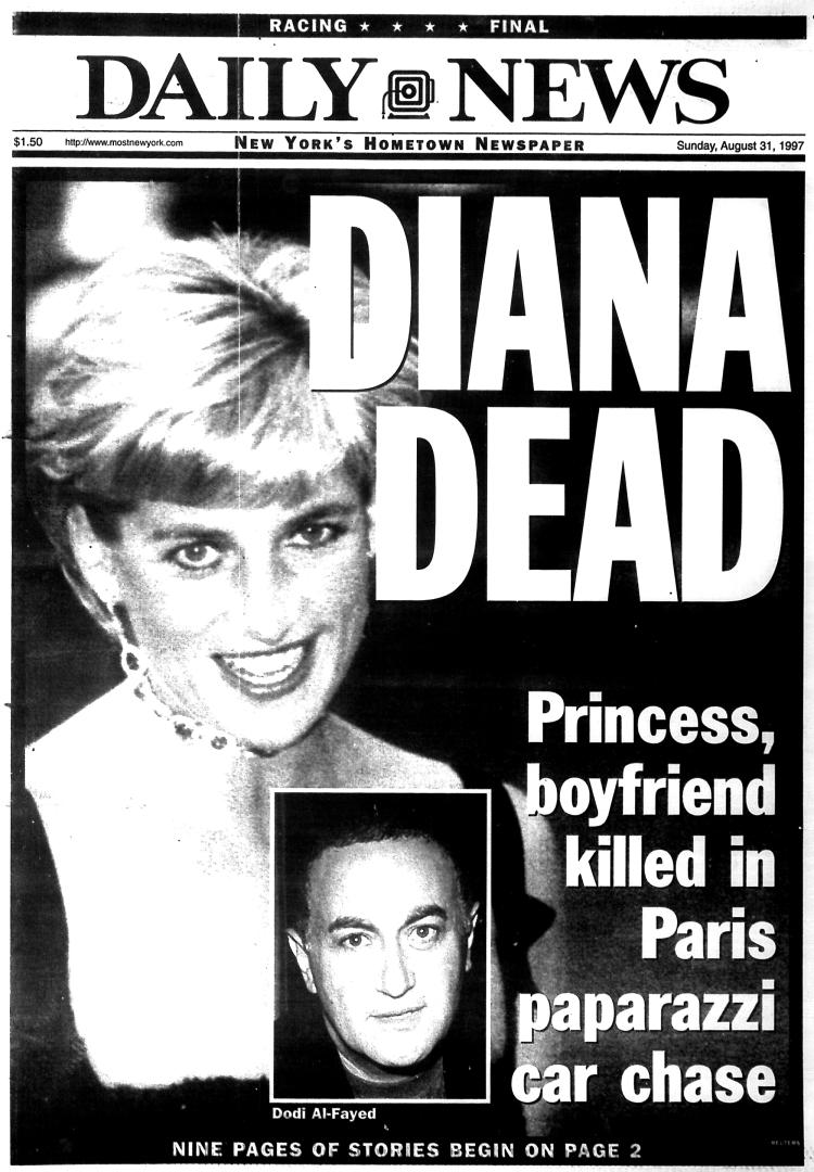 """""""Diana Dead,"""" NY Daily News, 8-31-97"""