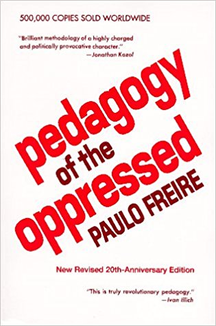 "Paulo Freire, ""Pedagogy of the Oppressed"" (1973), cover"
