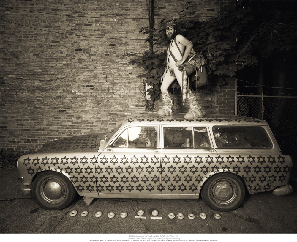 "Les Krims, ""The Wandering Jew and his Jew Mobile,"" 1980"