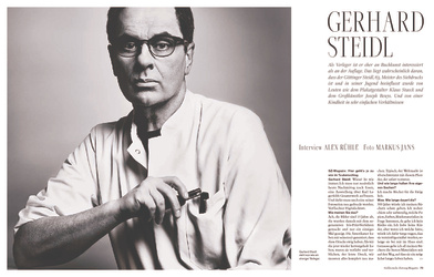 Gerhard Steidl, Süddeutsche Zeitung Magazine, November 26, 2014