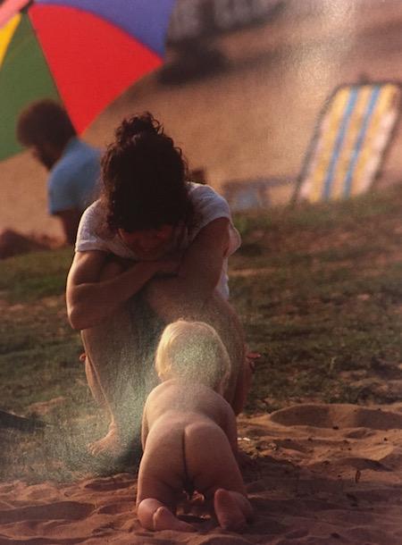 "Sebastião Salgado, Jr., beach scene from ""A Day in the Life of Hawaii"" (1984), detail"